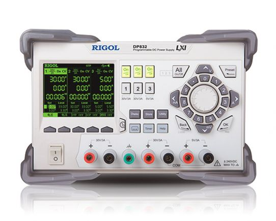 DP832 Programmable DC Power Supply up to 195W, Rigol