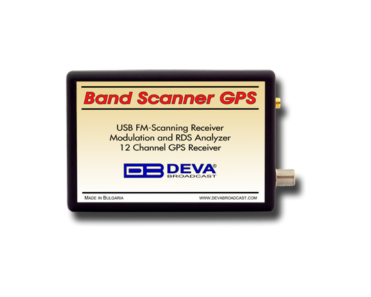 Band Scanner GPS, FM Band Spectrum & Mod Analyzer, RDS/RBDS Decoder-Reader with built-in GPS Receiver