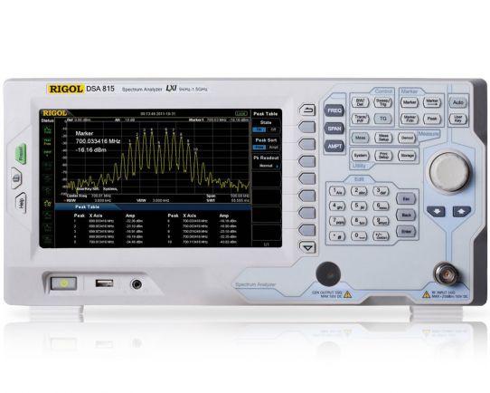 DSA815 1.5 GHz Spectrum Analyzer, Rigol