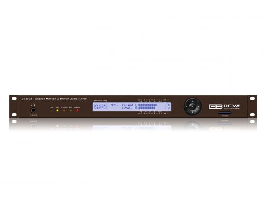 DB8008 - Silence Monitor with MP3 and IP Audio Backup Players, DEVA Broadcast