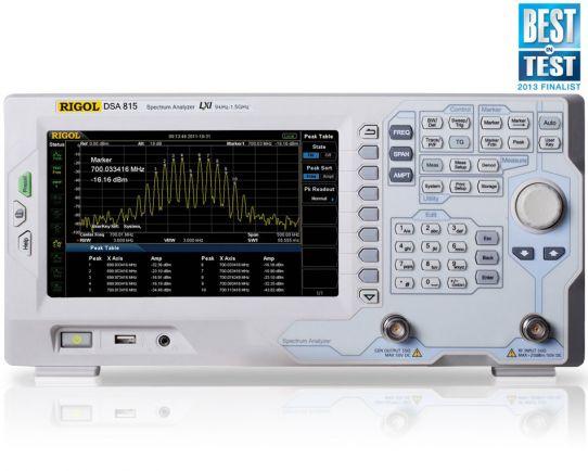 DSA815-TG 1.5 GHz Spectrum Analyzer with tracking generator, Rigol